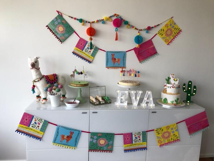 Les 6 ans d'Eva – Anniversaire sur le thème «Lama»